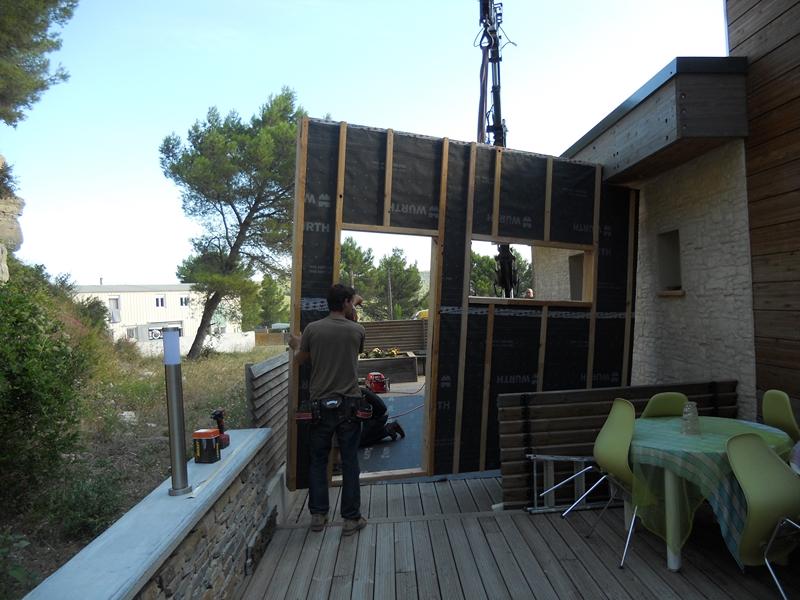 Agrandissement et extension maison en bois - Aix en provence - Marignane - Peypin - Toulon